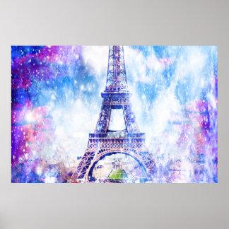 Poster Univers Paris d'arc-en-ciel