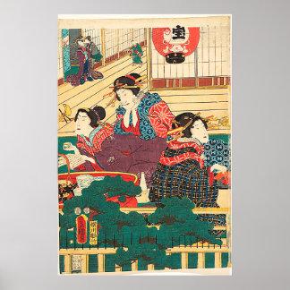 Poster Utagawa Kunisada
