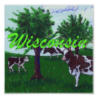 Poster Vaches au Wisconsin
