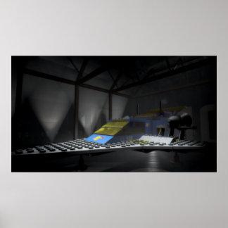 Poster Vaisseau spatial dans son hangar
