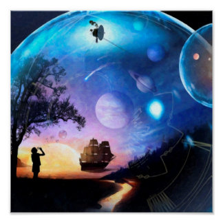 Poster Vaisseau spatial de Voyager d'illustration