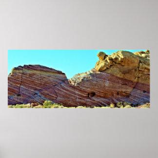 Poster Vallée de formations de roche du feu