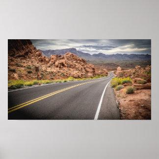 Poster Vallée de parc d'état du feu - affiche du Nevada