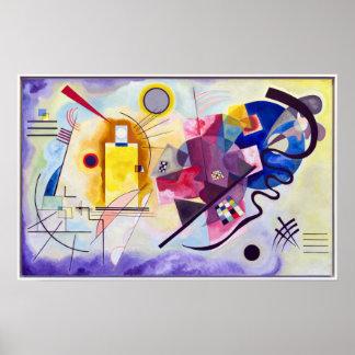 Poster Vasily Kandinsky Jaune-Rouge-Bleu