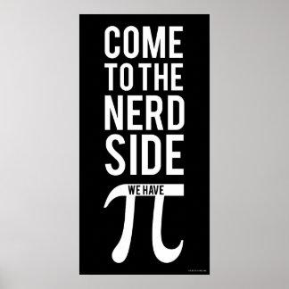Poster Venez au côté nerd