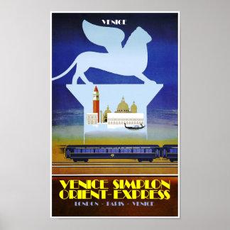 Poster Venise, affiche de voyage d'express d'orient