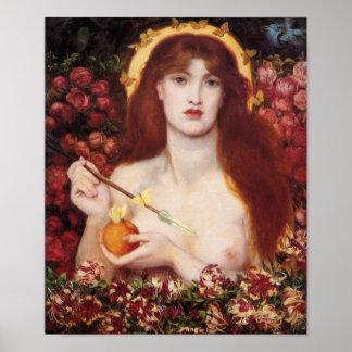 Poster Vénus Verticordia Dante Gabriel Rossetti de carte