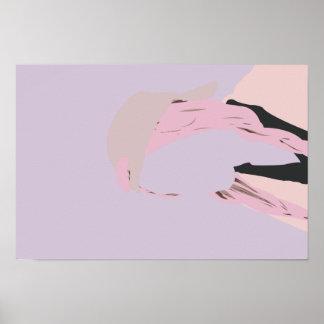 Poster Ver en pastel minimaliste de lavande de fille