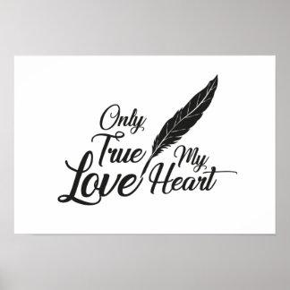 Poster Véritable plume d'amour d'illustration