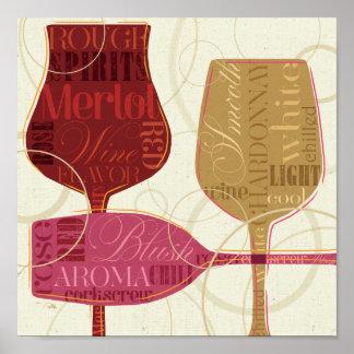 Poster Verres de vin colorés