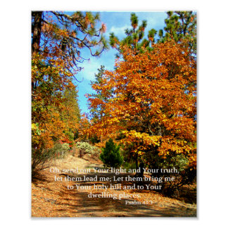 Poster Vers chrétien Creationarts de bible d'affiche de