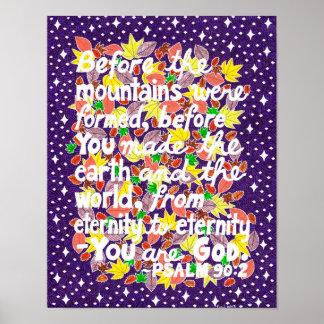 Poster Vers coloré de bible de typographie de Dieu