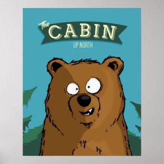 Poster Vers le haut de l'affiche du nord d'ours de cabine