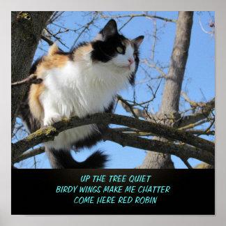 Poster Vers le haut du Haiku de Meme de chat de
