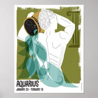 Poster Verseau le zodiaque de porteur de l'eau
