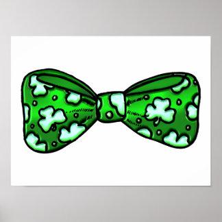 Poster Vert Bowtie du jour de St Patrick d'amusement