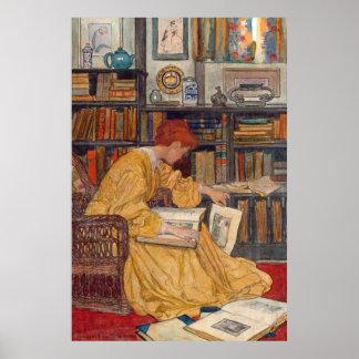 Poster Vert d'Elizabeth Shippen - la bibliothèque