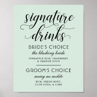 Poster Vert en bon état du signe   d'affiche de boissons