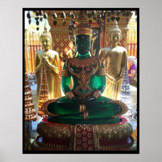 Poster Vert vert Bouddha Doi Suthep