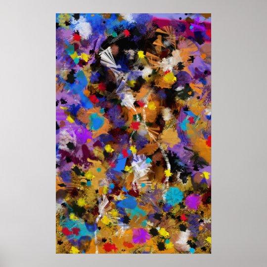 """Poster vertical coloré """" Fantasia"""""""
