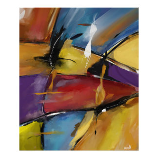 """Poster vertical extra grand modèle """"Abstract 1509"""""""