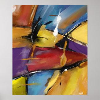 """Poster vertical moyen modèle """"Abstract 1509"""""""