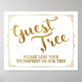 Poster veuillez pousser des feuilles votre thumbprint sur