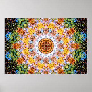 Poster Vibraphone coloré de mandala