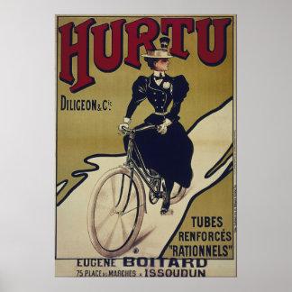 Poster Vieille affiche de bicyclette