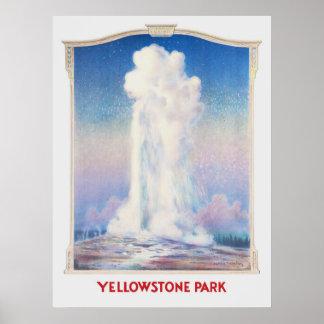 Poster Vieille affiche fidèle de Yellowstone