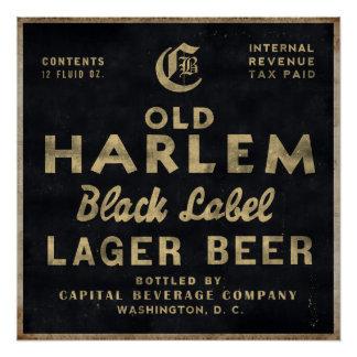 Poster Vieille affiche vintage de publicité de bière