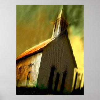 Poster vieille église - customisée