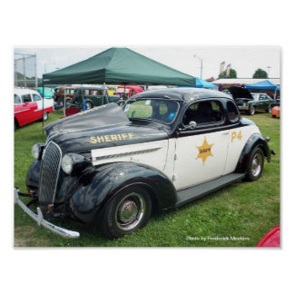 Poster Vieille voiture de police