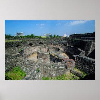 Poster Vieilles ruines de tour de guet
