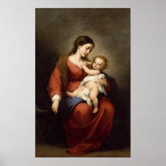 Poster Vierge et enfant