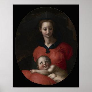 Poster Vierge et enfant, connus sous le nom de Madonna