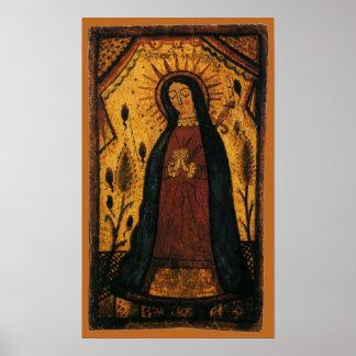 Poster Vierge Marie priant par Pedro Antonio Fresquis