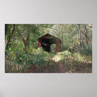 Poster vieux pont couvert, yellowsprings, Ohio