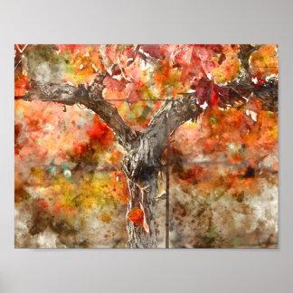 Poster Vignes en automne
