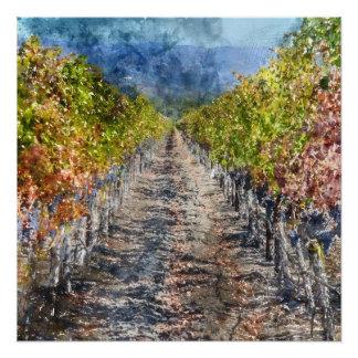 Poster Vignoble en automne dans Napa Valley la Californie