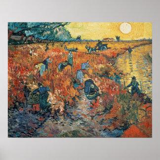 Poster Vignobles de rouge de Vincent van Gogh | chez
