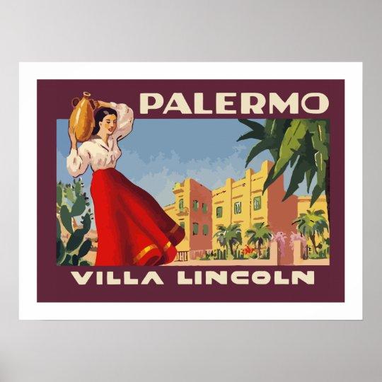 Poster Villa Lincoln (Palermo)