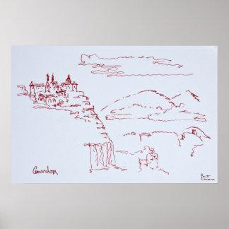 Poster Village de Cliffside de Gourdon | Provence, France