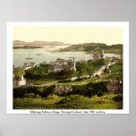 Poster Village de Killybegs, le Donegal vintage Irlande