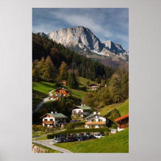 Poster Village de Maria Gern, Bavière