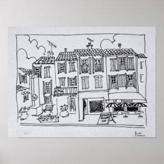 Poster Village médiéval de Biot, France