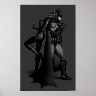 Poster Ville | Batman de Batman Arkham et Catwoman