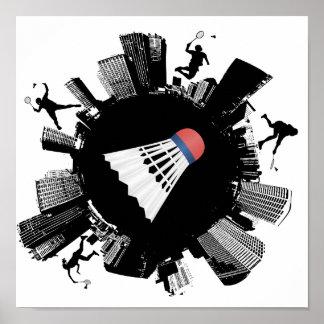 Poster Ville de badminton
