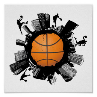 Poster Ville de basket-ball