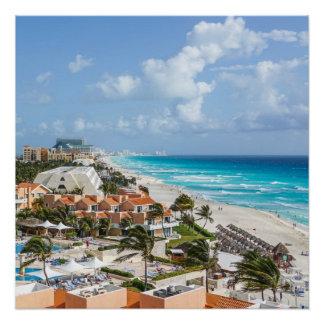 Poster Ville de Cancun sur près de la plage